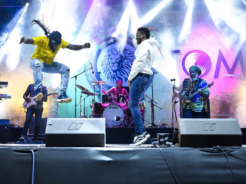 Benicassim, 2018-08-22. Tarrus Riley Ft Dean Fraser & Black Soil Band (Main Stage). Photo by: Patrick Albertini © Rototom Sunsplash 2018.